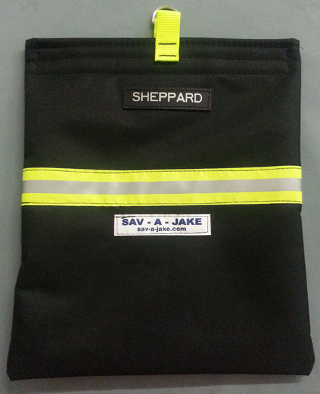 Scba Firefighter Mask Bag Black W 3m Triple Yellow Reflective Stripe Now With Optional Personalization