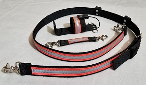 1.5 inch wide Nylon Radio Strap Set - Motorola APX 7000 - 3M Orange/Silver Reflective