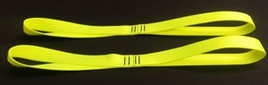 Motorcycle Tie Down Straps - Hot Yellow - set of 2