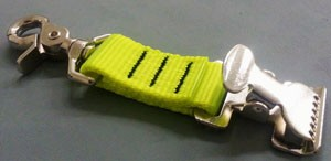 Glove Strap/Holder Spring Clip - Hot Yellow