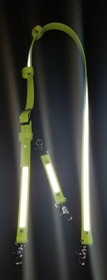 Ultralite Hot Yellow Coated Webbing w/3M Reflective Radio Strap
