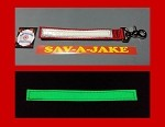 Firefighter Glove Strap - Glow in the Dark AND reflective trim Red Webbing