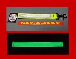 Firefighter Glove Strap - Glow in the Dark AND reflective trim Yellow Webbing
