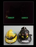 Glow in the Dark Firefighter Fire Helmet Identifier Decal