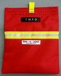 Firefighter SCBA Mask Bag - Red w/3M Triple Yellow Reflective Stripe - NOW WITH OPTIONAL PERSONALIZATION!