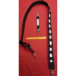 "2"" Wide Firefighter Nylon Radio Strap - Glow/Reflective Trim"