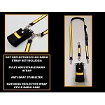 DOT Road Ranger Nylon Full Pocket Radio Strap Set - 3M Yellow/Orange Reflective