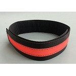 Fire Hose Straps XL SIZE  - Black w/3M Orange Scotchlite  - 3 pack