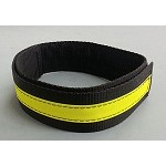 Fire Hose Straps XL SIZE  - Black w/3M Yellow Scotchlite  - 3 pack