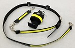 Ultralite WILDFIRE 1.5 inch wide Nylon Radio Strap Combo Set  - Compact radios - w/3M Fire Resistant Yellow Reflective