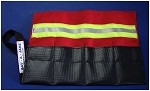 Roll Up Firefighter Tool Pouch - Red w/3M Triple Yellow Reflective