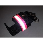 SPECIAL EDITION Firefighter Nylon Radio Holder - HOT PINK with 3M Silver Reflective