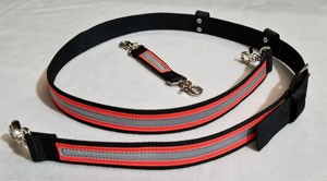1.5 inch wide Nylon Radio Strap Set - 3M Orange/Silver Reflective