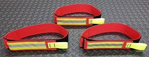 Firefighting Fire Hose Straps Denver Load/High Rise 23 inch strap Red/3M Triple Yellow Reflective