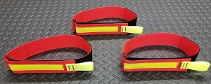 Firefighting Fire Hose Straps Denver Load/High Rise 31 inch strap Red/3M Fire Resistant Yellow Reflective