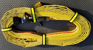 Cleveland Load Fire Hose Straps - Black w/3M Fire Resistant Yellow Reflective
