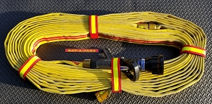 Cleveland Load Fire Hose Straps - Red w/3M Fire Resistant Yellow Reflective