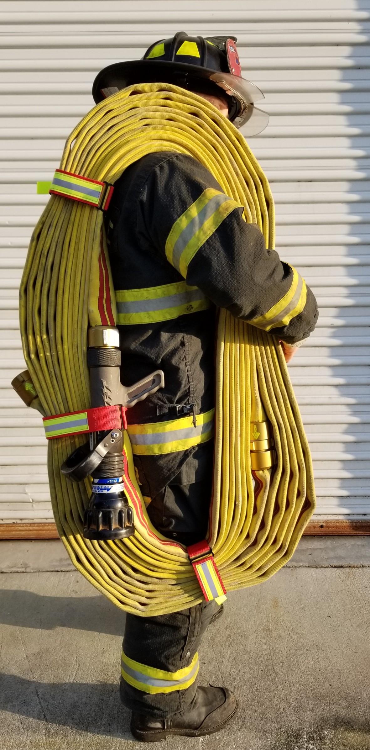 Cleveland Load Fire Hose Straps Black Resistant