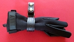 Basketweave Leather police belt keeper/glove strap combo - choice of snap color