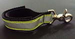 Firefighter Glove Strap - Black w/3M Yellow & Silver Reflective - trigger snap