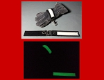 Firefighter Glove Strap - Wide body leather with Glow in the Dark AND reflective trim