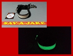 Firefighter Glove Strap - LEATHER Glow in the Dark AND reflective trim - quick release
