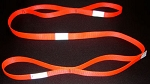 6 ft. Reflective Firefighter Utility Strap - Hi Viz Orange -  1 Inch Wide 6000 lb. Nylon Webbing