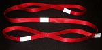 6 ft. Reflective Firefighter Utility Strap - Red -  1