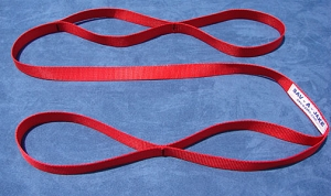 6 ft. Firefighter Utility Webbing - 4,000 lb. Red