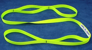 6 ft. Firefighter Utility Strap - Hi Viz Yellow - 1