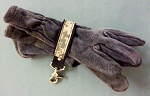 Leather Glove Strap - trigger snap w/Camouflage Stripe