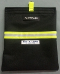 SCBA Firefighter Mask Bag - Black w/3M Triple Yellow Reflective