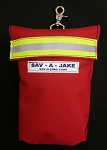 50' Firefighter Rope Bag Red w/3M Triple Yellow Reflective