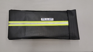 Firefighter Hydrant Tool Bag - XL - Black Herculite w/3M Triple Yellow Reflective Stripe