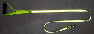 BRIGHTWALKER Reflective Dog Leash w/padded handle - Hot Neon Yellow & Silver Scotchlite Assorted Lengths From $18.99