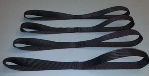 Motorcycle Tie Down Straps - Black - set of 4