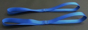 Motorcycle Tie Down Straps - Royal Blue - set of 2