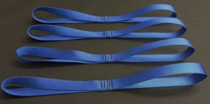 Motorcycle Tie Down Straps - Royal Blue - set of 4