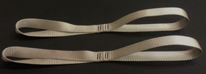 Motorcycle Tie Down Straps - Silver - set of 2