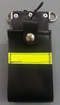 Firefighter Leather Radio Holder Full Pocket Motorola APX 6000 XE 3M Solid Yellow Reflective
