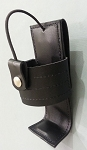 Police Security Law Enforcement Leather Compact Size Radio Holder - Belt Attachment