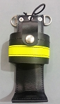 Leather Firefighter Motorola APX 6000 Radio Holder 3M Solid Yellow Reflective