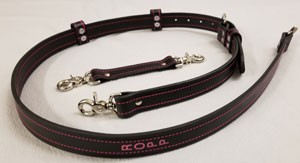 Firefighter Pink Line Leather Radio Strap & Anti-sway Strap