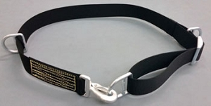 Nylon Firefighter Truck Escape Belt - Solid Black