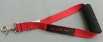 12 inch Traffic Leash Padded Handle - Red w/DO NOT PET tag