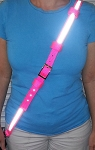Ultralite Nylon Radio Strap and Anti Sway Strap - HOT PINK with 3M Silver Reflective
