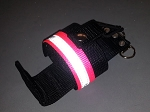 Firefighter Nylon Radio Holder - HOT PINK with 3M Silver Reflective
