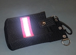 Firefighter Nylon Pocket Radio Holder - HOT PINK with 3M Silver Reflective